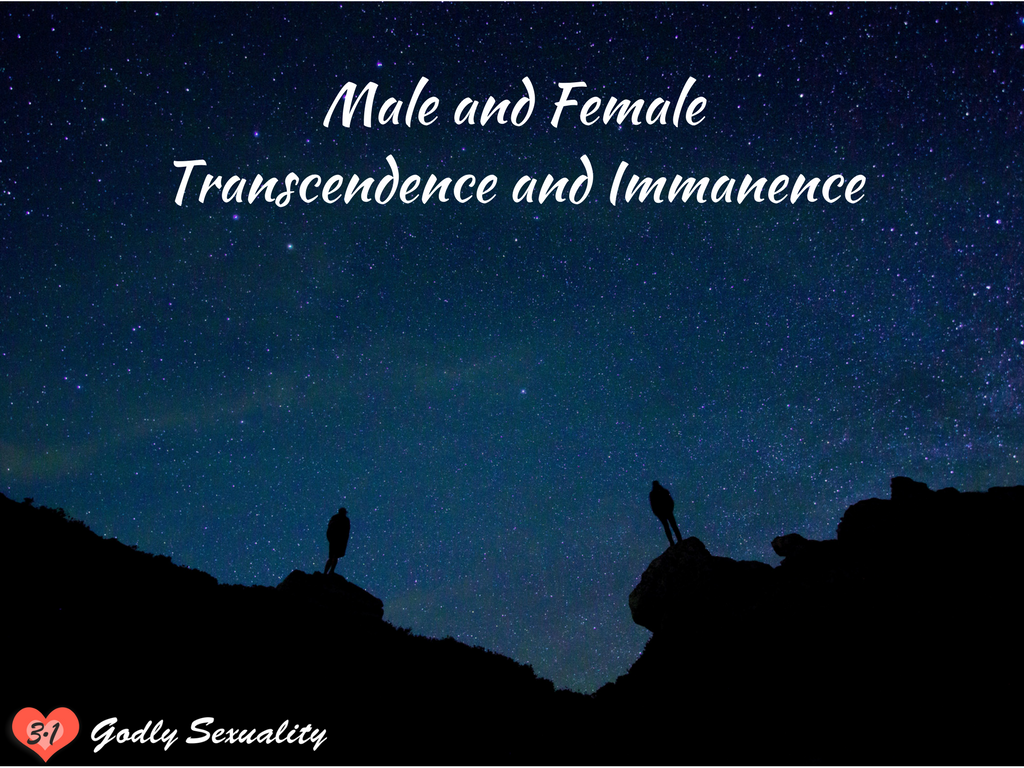 Male and Female: Transcendence and immanence (godly sexuality)