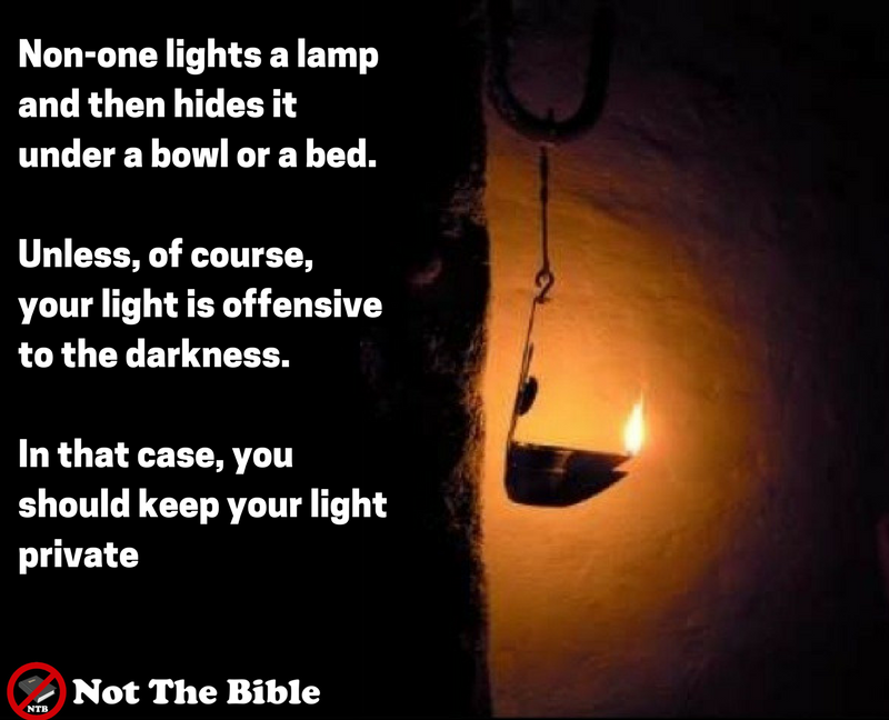 Not the parable of the lamp (Not the Bible)