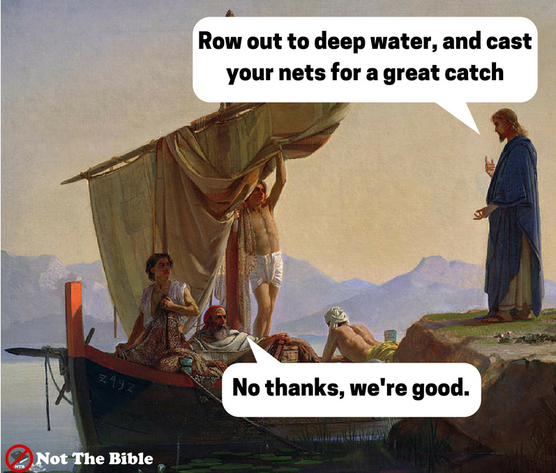 Peter and the Great Catch of Fish (Not the Bible)